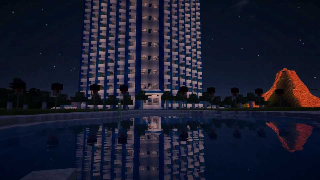 Minecraft - Epic Luxury Skyscraper / Hotel - YouTube