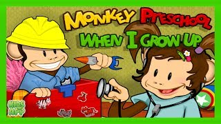 Monkey Preschool: When I Grow Up (THUP Games) - Best App For Kids