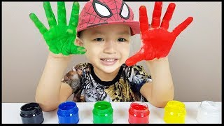 Learn Colors with Body Paint for Toddlers and Babies | The Surprise for Kids