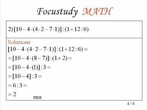 Espressioni Aritmetiche Esercizi Con Soluzione 2 Youtube