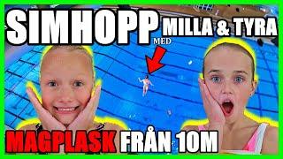 SIMHOPP MED MILLA & TYRA MAGPLASK FRÅN 10M