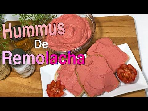 HUMUS DE REMOLACHA - Recetas Veganas Faciles