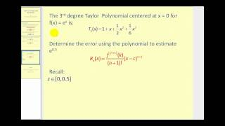 Taylor's Theorem with Remainder