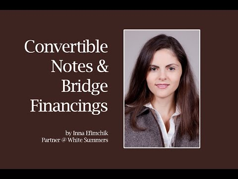 Convertible promissory note & bridge financing