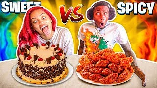 SWEET VS SPICY CHALLENGE 🍭🌶