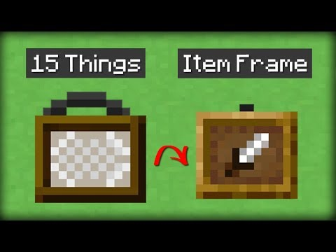 ✔ Minecraft: 15 Things You Didn't Know About the Item Frame