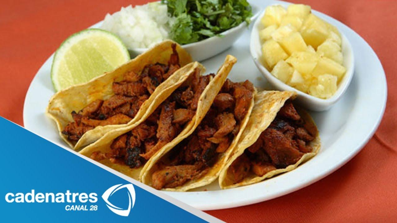 Tacos De Pollo Al Pastor Con Salsa De Pina Y Habanero Receta De