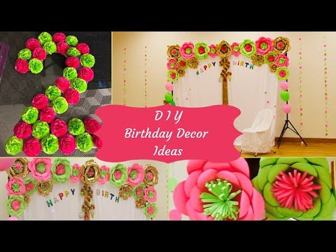 DIY: Floral Birthday Decoration/ Color Themed Party Decor/ 3D Floral Number/#Diybirthdaydecorations