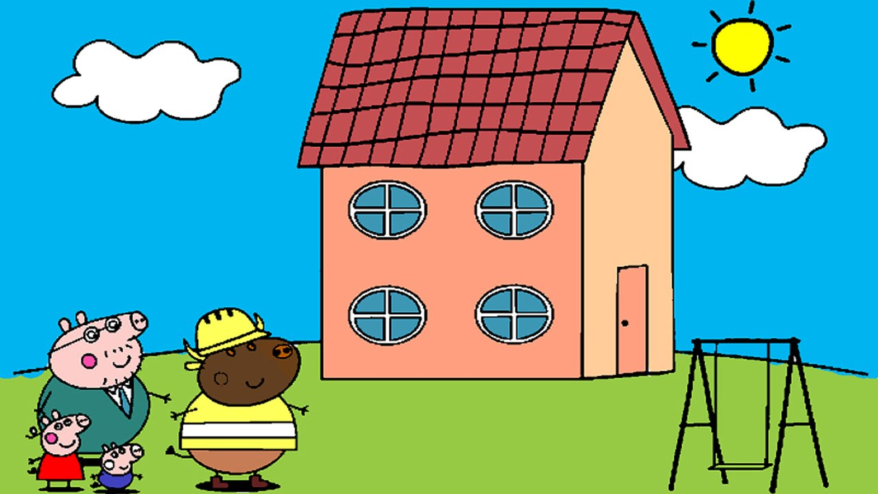 peppa pig coloring pages for kids peppa pig coloring games peppa pig new house coloring book - New Colouring Games