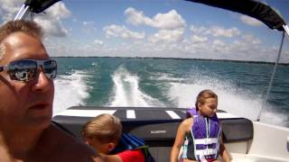 One minute boating on Lake St Clair