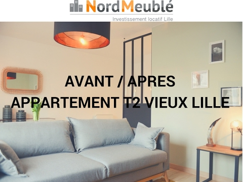 avant apres t2 vieux lille investissement meubl lille lmnp normeuble youtube. Black Bedroom Furniture Sets. Home Design Ideas