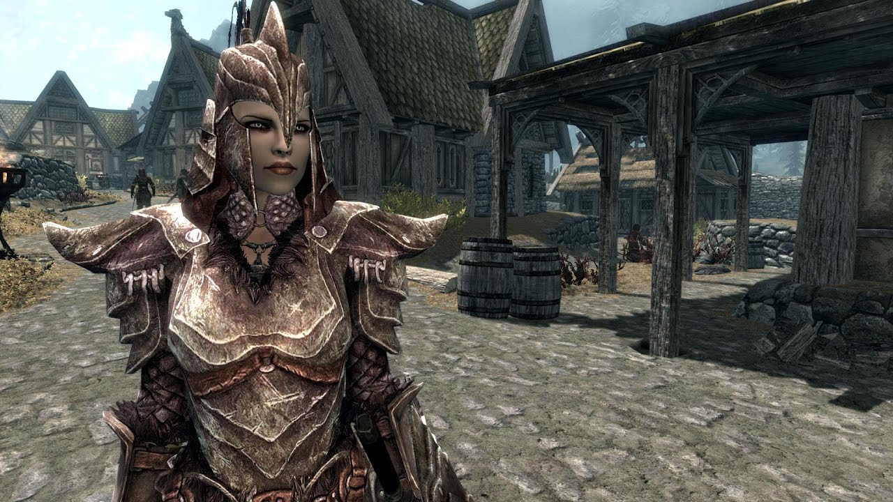 Skyrim Female Fashion Show Orcish Armor Youtube The dragon head motives are also in perfect quantity: skyrim female fashion show orcish armor