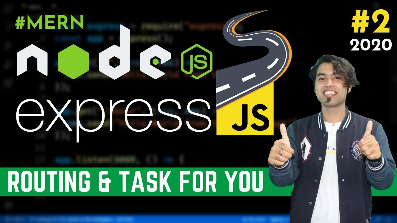 Express JS Routing & our First Challenge in Express JS Tutorial in Hindi in 2020