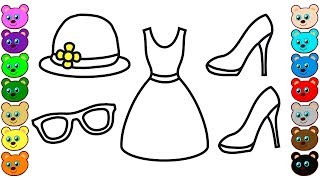 Coloring for Kids with Mom's Clothes - Colouring Book for Children
