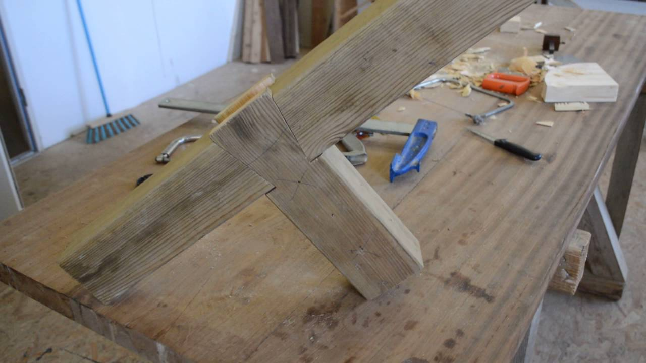 assemblage bois impossible joinery double dovetail, enfourchement à double qu
