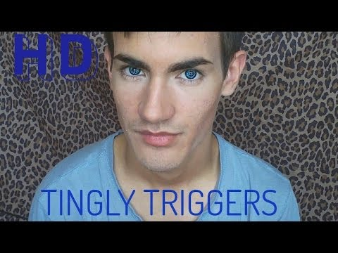 1 Hour of 10 Tingly Triggers For Relaxing With Big Blue Eyes (Soft Spoken Ear to Ear 3D ASMR)