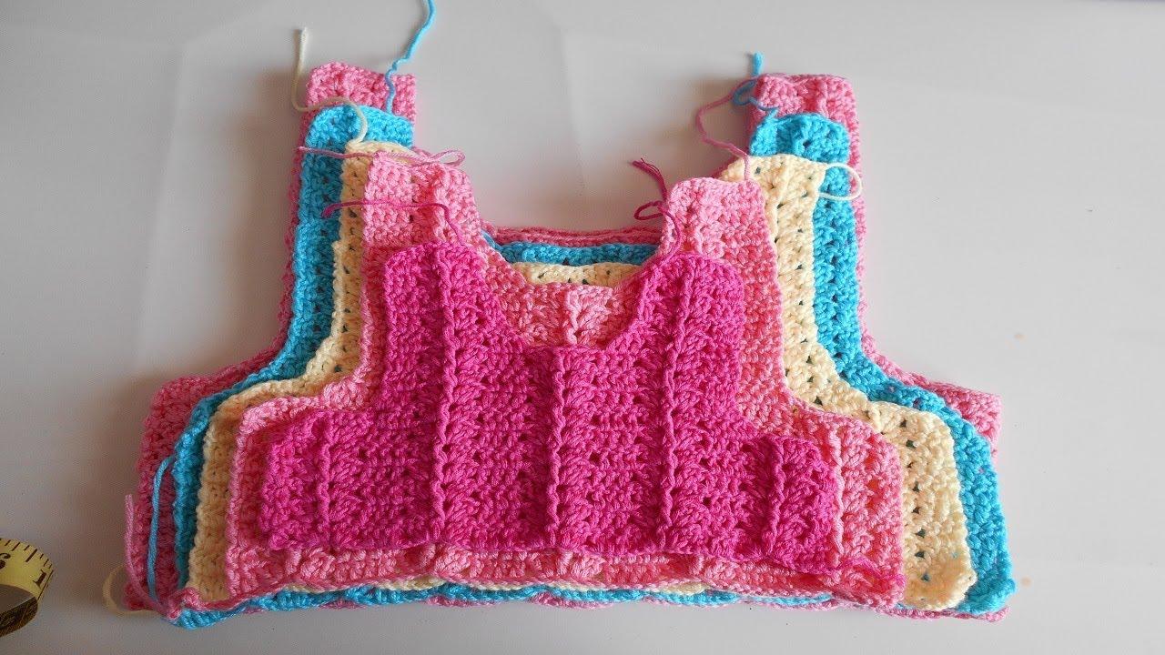 Como hacer canesu a crochet o ganchillo en todas las tallas / How to ...