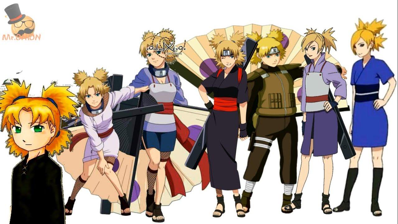 Naruto characters: Temari's evolution - YouTube