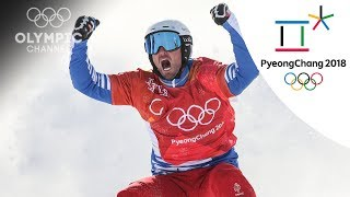 Pierre Vaultier reacts to accident in semifinals and his gold | Winter Olympics 2018 | PyeongChang