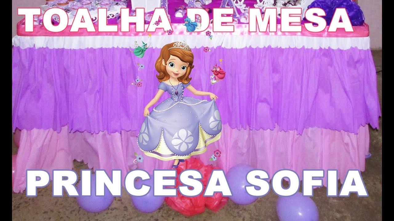 Well-known TOALHA DE MESA PRINCESA SOFIA - POR KARINA DAL SASSO - YouTube NS42