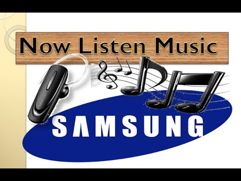 How to listen music on Samsung Bluetooth HM1100