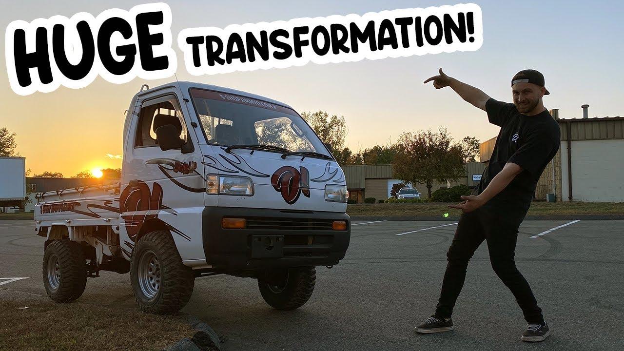 Jdm mini truck gets a LIFT KIT & New fitment!! (Off Road Ready!)