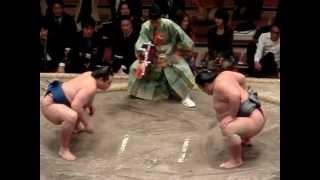引退相撲の取組は三役のみ撮影しました。