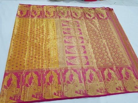 Kanchipuram Silk Sarees With Emboss Border Designs || Gorgeous Indian Bridal Saree