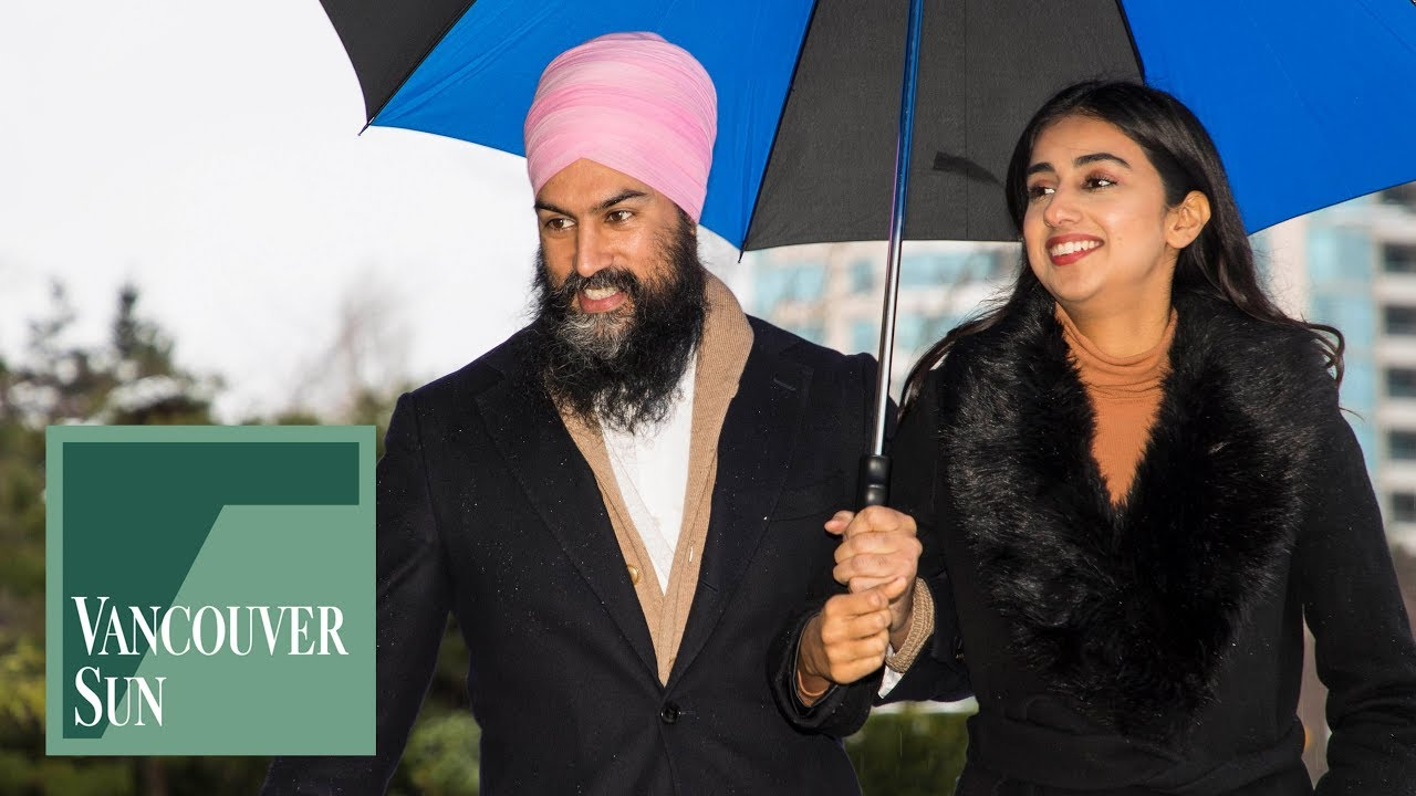 Jagmeet Singh And His Wife Gurkiran Kaur Cast Their Vote Vancouver Sun Youtube