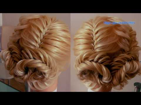 Воздушная причёска из кос Рыбий хвост. Видео-урок