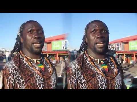 3D VR: African acrobat/comedian: part 2/2 (in 3D for Cardboard VR)