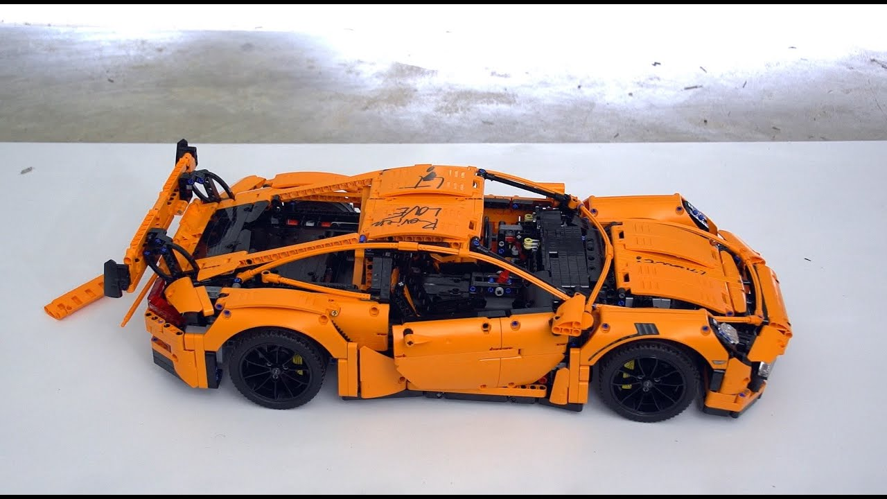 lego technic 42056 porsche 911 gt3 rs unboxing speed build review youtube. Black Bedroom Furniture Sets. Home Design Ideas