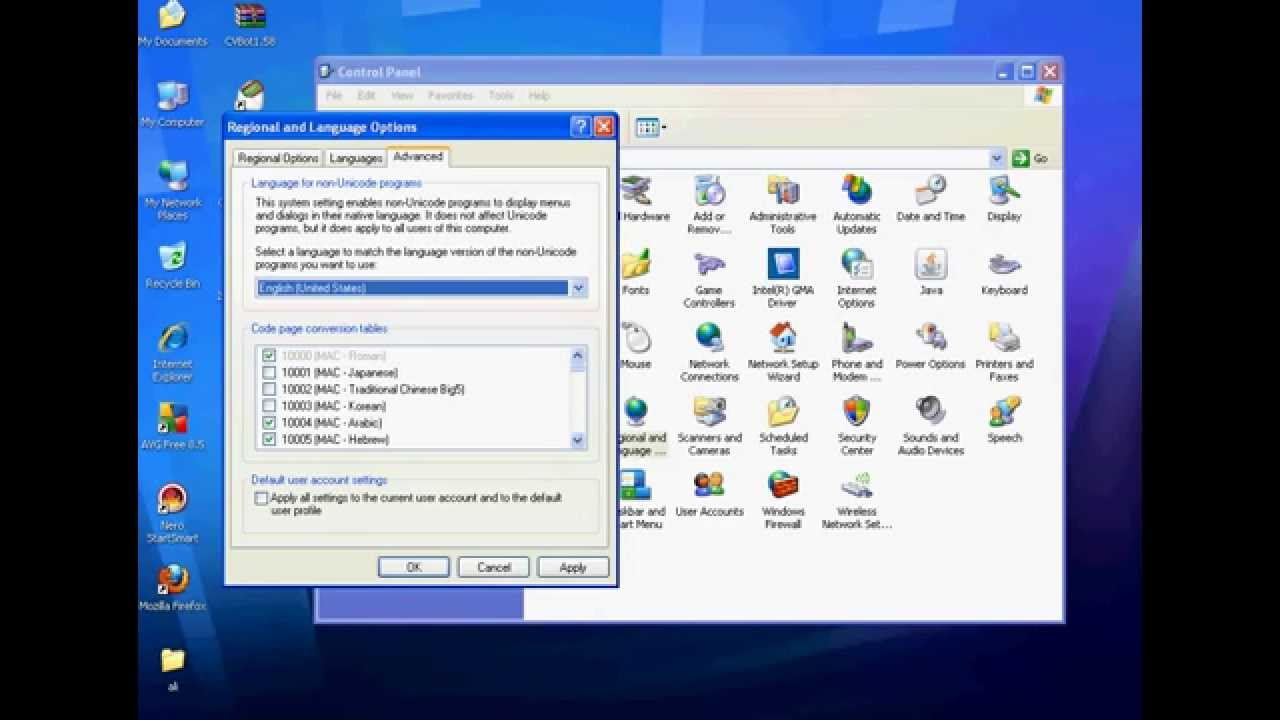 How to Change the Language on Windows XP Proffesional