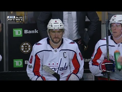 Ovechkin plays bank for 'billiards style' empty netter