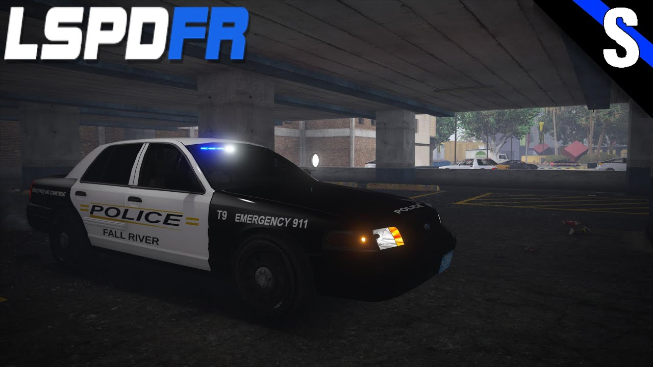 GTA V LSPDFR 153 Fall River Police Slicktop Ford Crown Victoria