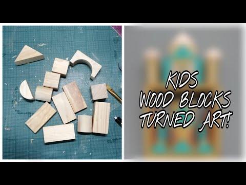 TURNING KIDS WOOD BLOCKS INTO CUSTOMIZABLE ART