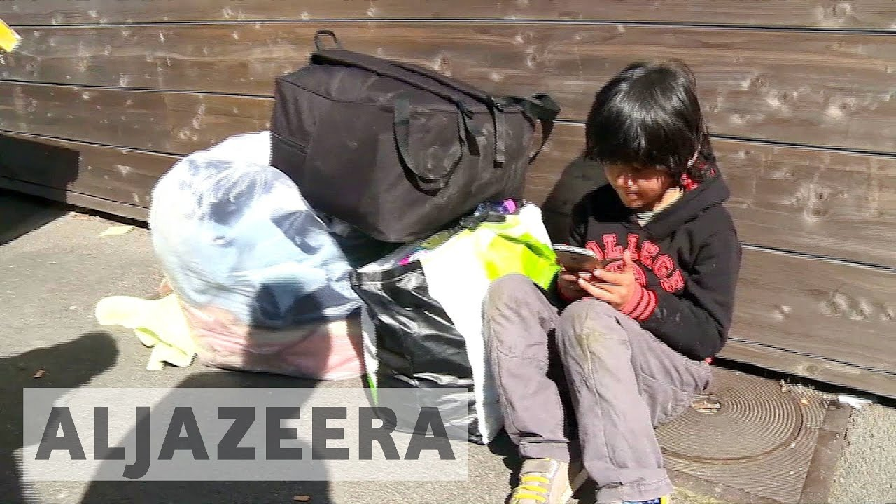 France: Refugees left without shelter after fire destroys camp