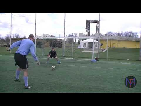 Wright State University Men's Goalkeepers Spring Season Training - Core Strength and Recovery Saves