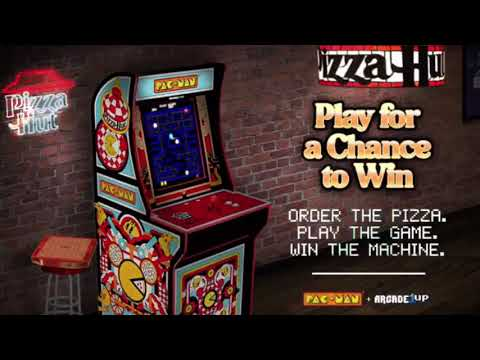 Arcade1Up Pizza Hut Exclusive Pac Man Cabinet Arcade 1Up from rarecoolitems