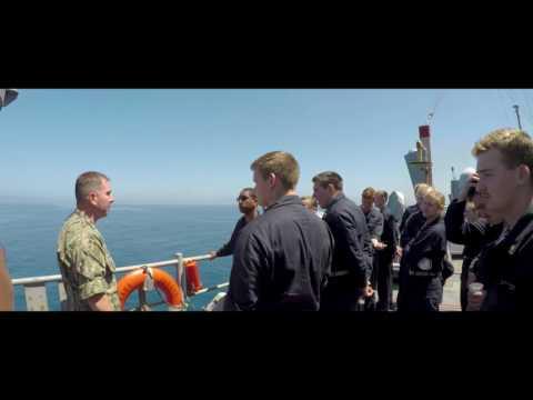Navy Midshipmen Summer Cruise 2017 USS Pearl Harbor LSD 52 HD