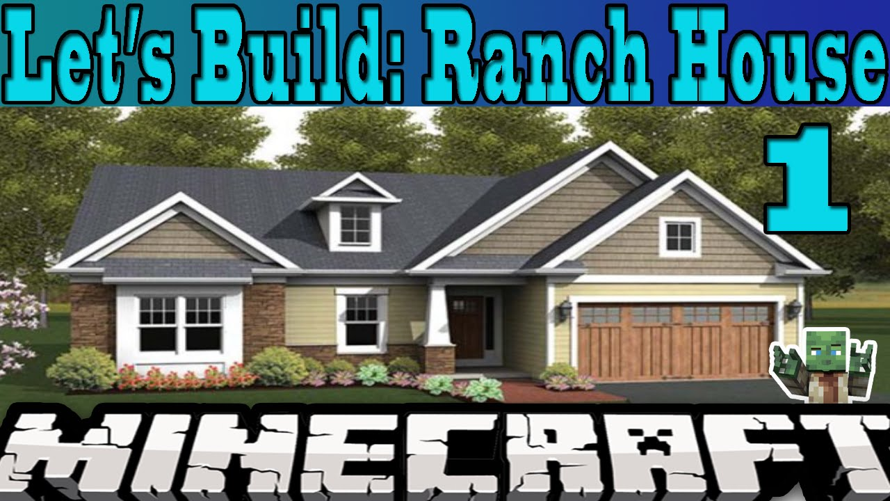 minecraft let 39 s build ranch house 1 doovi