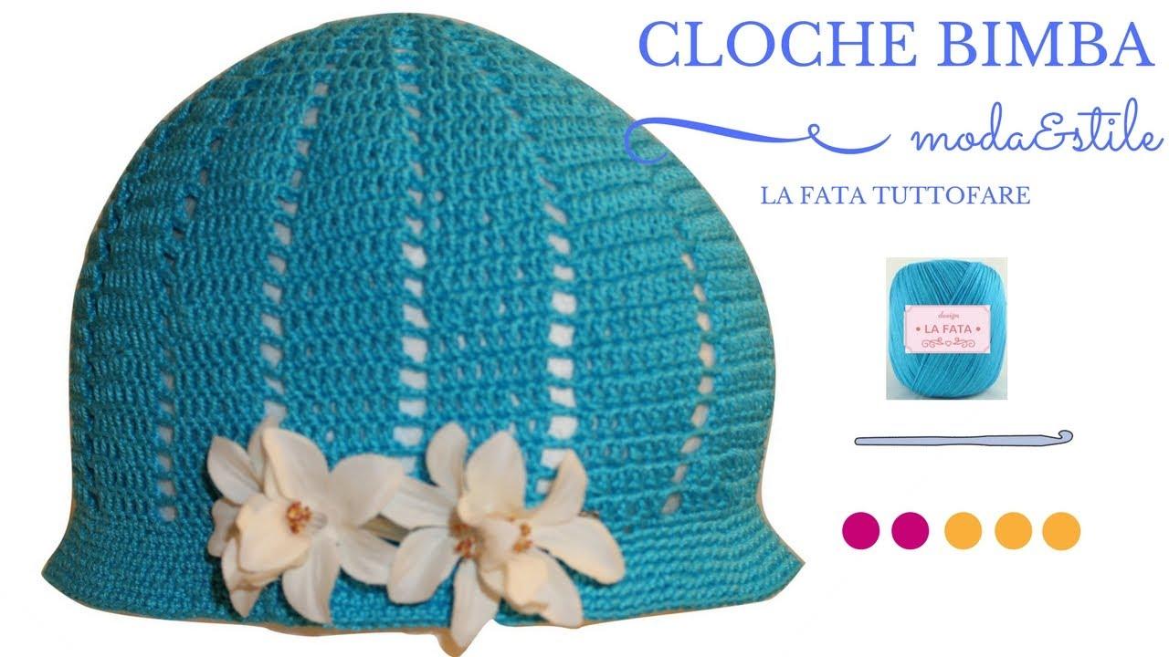 TUTORIAL  cappello all uncinetto tipo cloche   la fatatuttofare ... d1711b9785ac