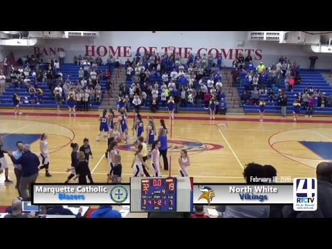 Marquette Catholic vs North White - Caston Class 1A Girls Basketball Regional Championship Game