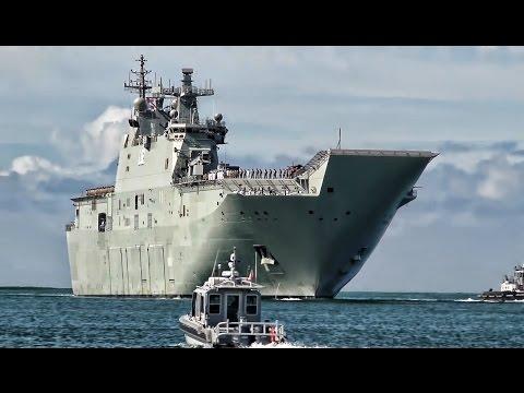 Australian Navy Ships Arrive At Pearl Harbor For RIMPAC 2016