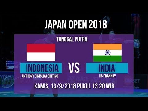Jadwal Live Laga Tunggal Putra Putra, Sinisuka Ginting Vs India Di Japan Open 2018