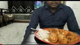 Chicken biryani eating......