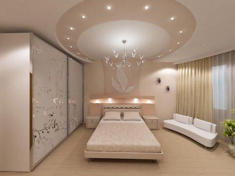 Дизайн гипсокартонных потолков для гостиной, зала, спальни и детской!
