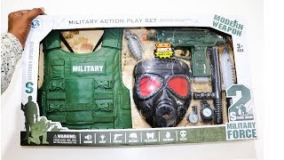 Role Play Military Weapons Toy Set Unboxing – Chatpat toy tv
