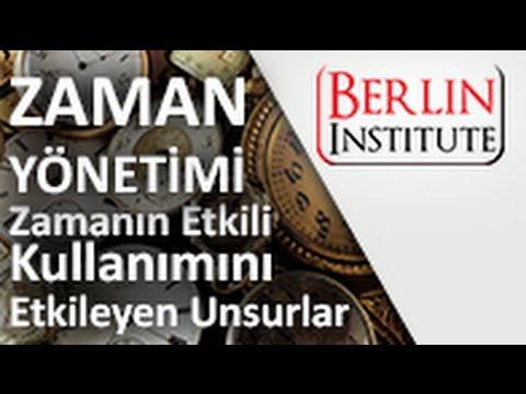 Zaman Yönetimi Dersleri - Zamanın Etkili Kullanımını Etkileyen Unsurlar (HD)