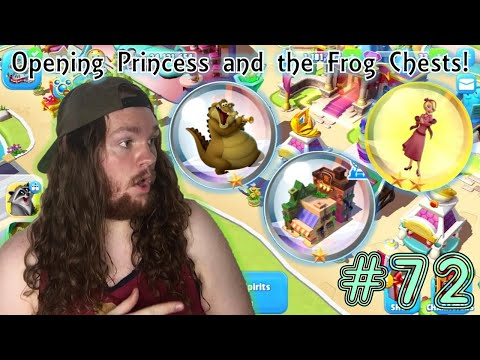 Disney Magic Kingdoms Gameplay Update 72 (Opening Princess and the Frog Chests!)  